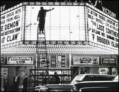 Could That Be Curse Of The Demon And Giant Claw On Left Side Marquee Sid MeltonCesar Romero Hugh Beaumont Classic Right